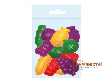 Tvořítka 3D 12 ks sada na modelování,ovoce-zelenina