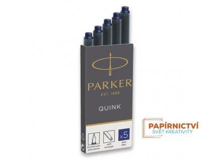 Inkoustové bombičky PARKER - modré (5ks)