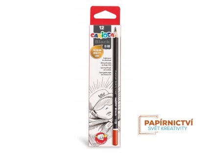 42930 CARIOCA Black Pencils B 1 Box 12 pcs