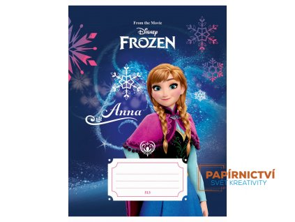 Y-Sešit A5, 513, 10listů Frozen