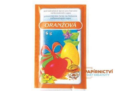 Barvy na velikonoční vajíčka 5g - jednotlivě - oranžová