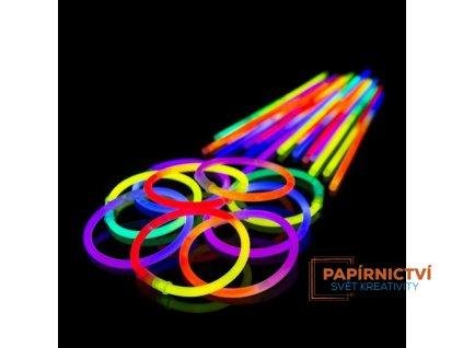 arm knicklichter 100 stueck bicolor zweifarbig im 5 farb mix 4 x 25er rolle