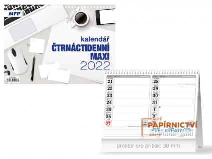 Kalendář 2022 stolní Čtrnáctidenní MAXI
