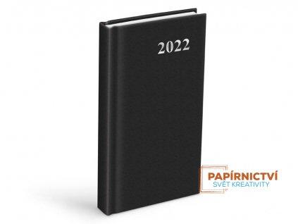Diář 2022 D802 PVC Black 90x170 mm