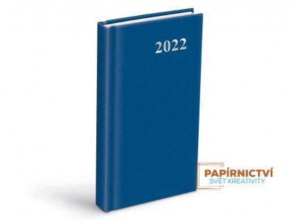Diář 2022 D802 PVC Blue 90x170 mm