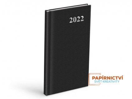 Diář 2022 T806 PVC Black 90x170 mm