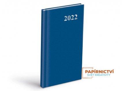 Diář 2022 T806 PVC Blue 90x170 mm