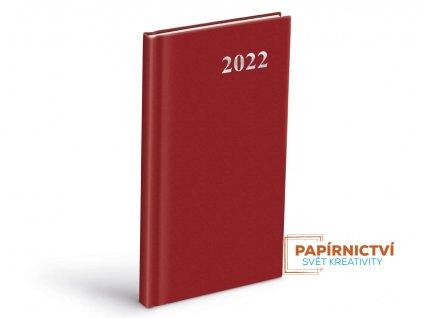 Diář 2022 T806 PVC Red 90x170 mm