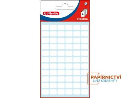 830414 EBD Bueroetiketten weiss, 8 x 12 mm, cellophaniert mit Einlegekarte 9265 highres