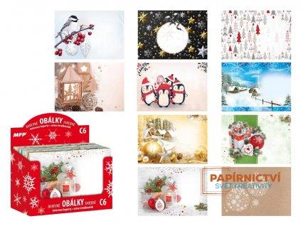 Dopisní obálky MFP C6 barevné vánoční