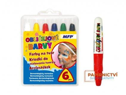Barvy na obličej MFP 6 ks set