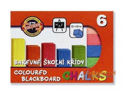 Souprava křídy školní barevné 6ks
