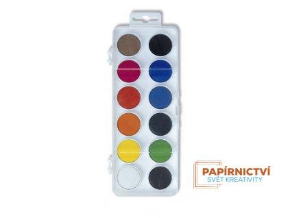 Barvy vodové pr. 22.5 mm/12ks