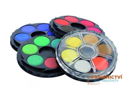 Barvy vodové kulaté 24 odstínů