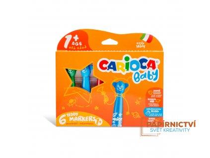 Fixy CARIOCA Baby Teddy Marker 6 barev