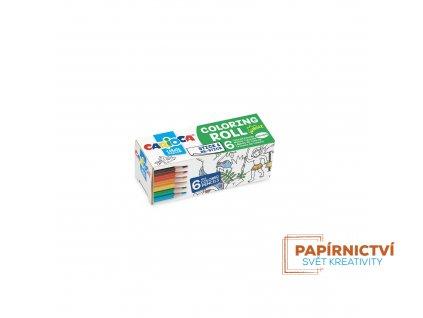 Omalovánky CARIOCA roll 10x85cm Jungle + 6 pastelek