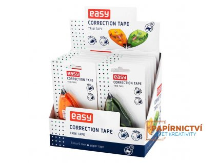 easy office trim tape korekcni strojek 8 m 12 ks v bal. zeleny a oranzovy mix 5907640896831 5907640896831 88663