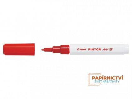 Akrylový popisovač Pilot Pintor, hrot EF - červený
