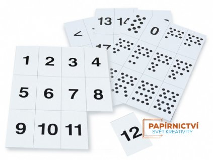 Sada čísel - karton - 4 listy