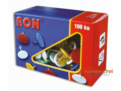 Připínáčky RON 10mm/100ks barevné typ 224