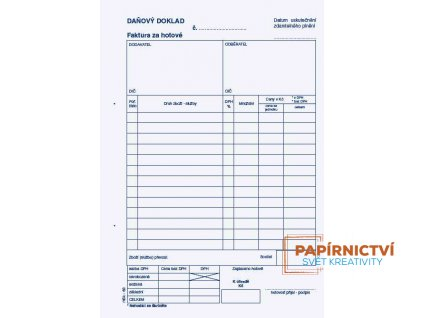 Daňový doklad - faktura za hotové NCR /83