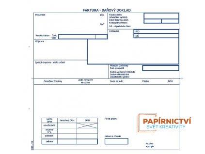 T-faktura 2/3 A4 NCR tab.roz DPH/39