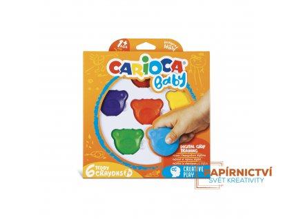 Dětské voskovky CARIOCA Teddy Crayons 1+