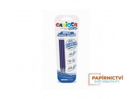 Náplň CARIOCA Oops gumovací pero modrá