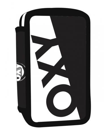 Školní penál třípatrový OXY Black & White