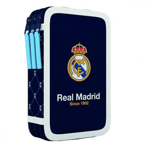 Školní penál třípatrový Real Madrid