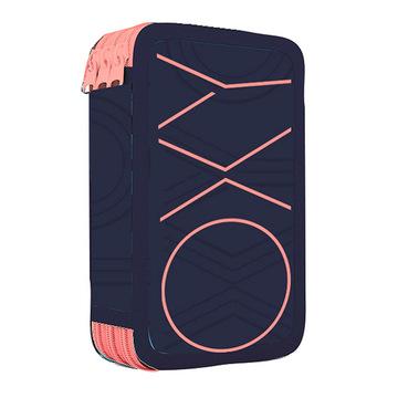 Školní penál třípatrový OXY PASTEL LINE pink