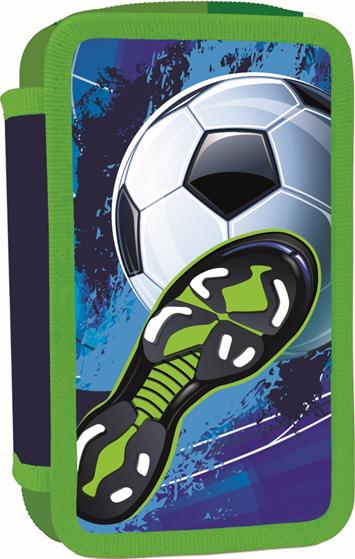 Školní penál třípatrový Fotbal