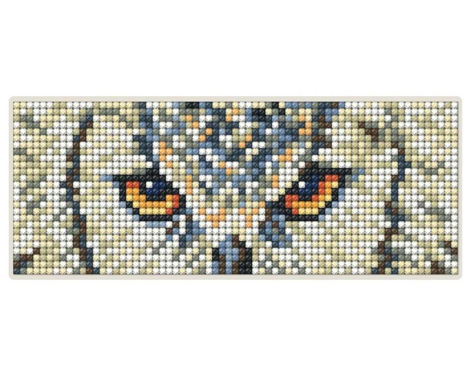 Diamantové malování 17x6,8cm, magnet - SOVA
