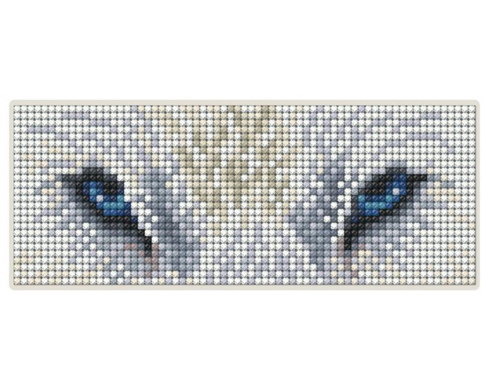 Diamantové malování 17x6,8cm, magnet - OČI VLKA
