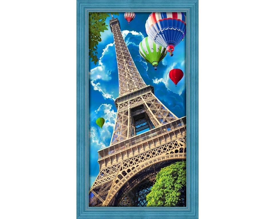 Diamantové malování 30x60cm OBLOHA NAD PAŘÍŽÍ
