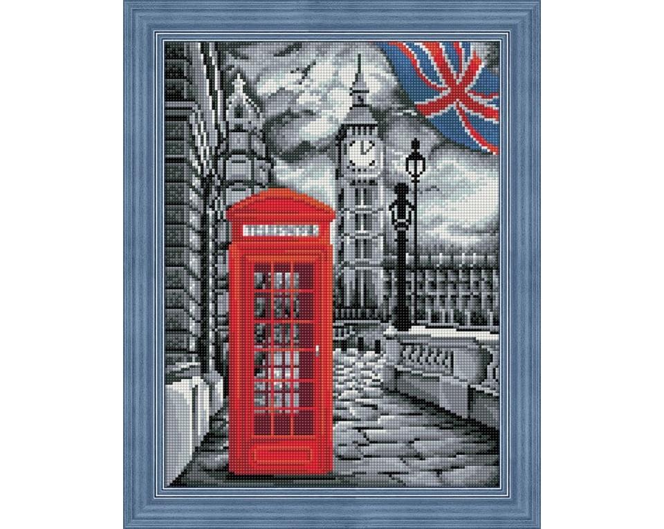 Diamantové malování 40x30cm LONDÝN