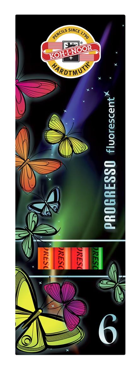 Pastelky 8741/06 PROGRESSO fluorescenční dlouhé