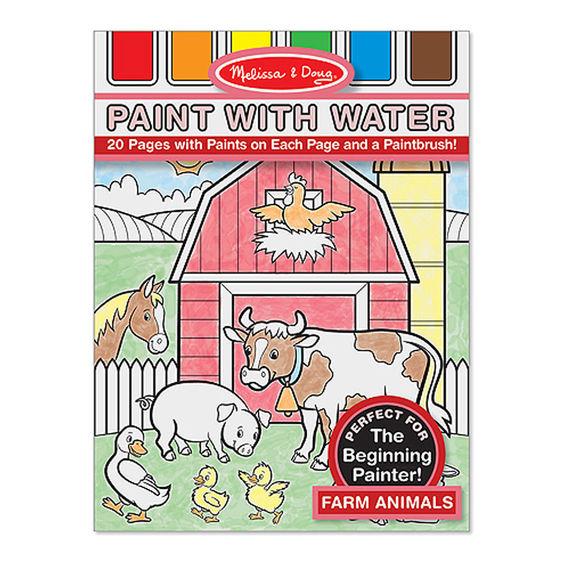 Omalovánky s barvami - zvířata na farmě