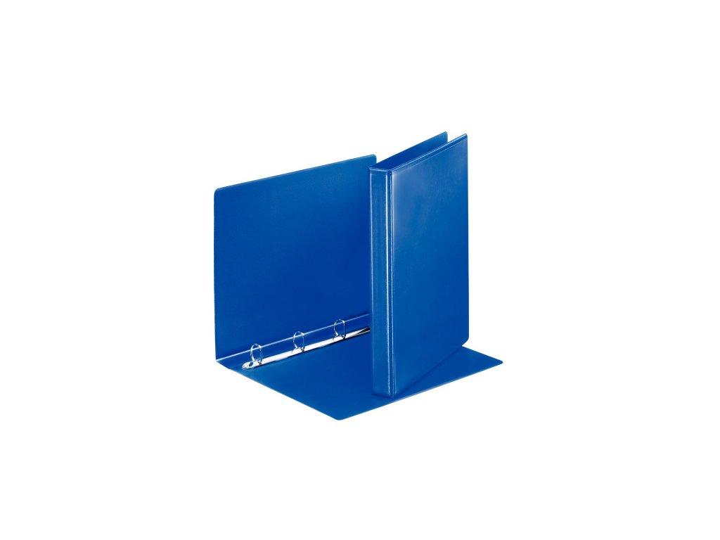 Pořadač A4 kroužkový prezentační - hřbet 3,8 cm -4 - kroužek / modrá