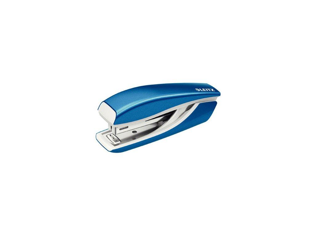 Kancelářský sešívač Leitz mini 5528 - metalická modrá