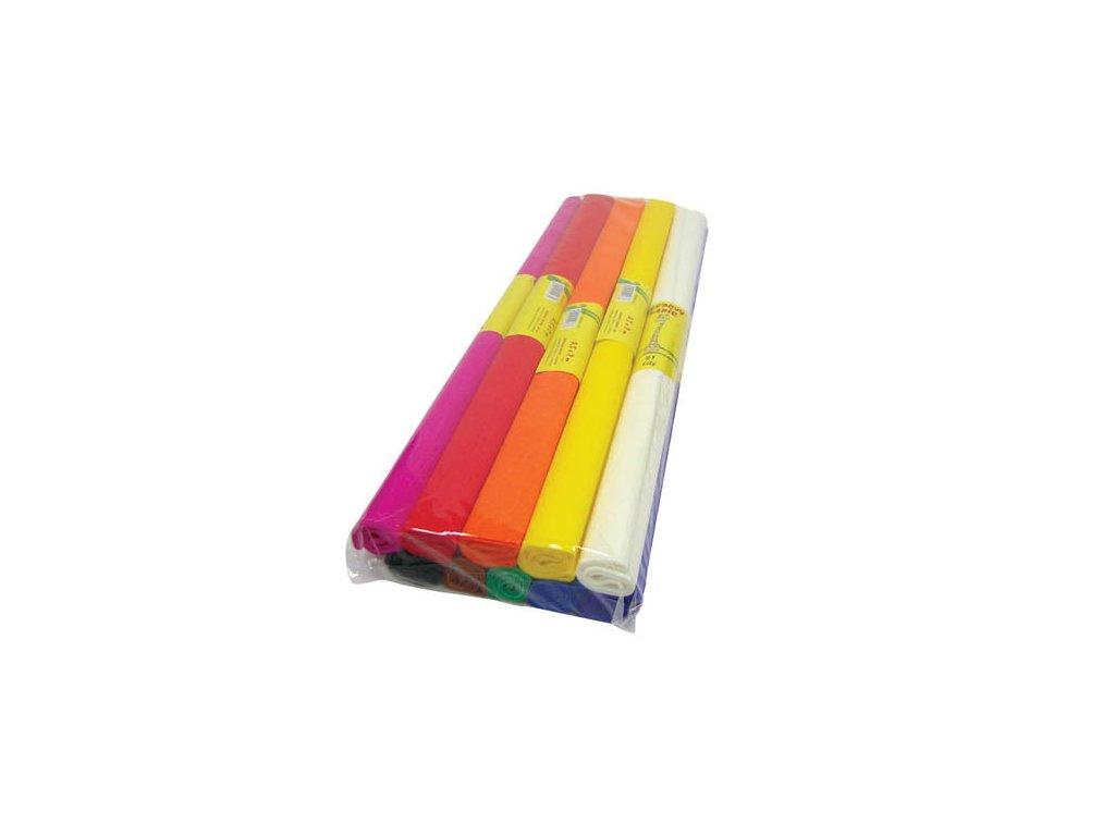 Krepový papír - role / 50 x 200 cm / hnědá