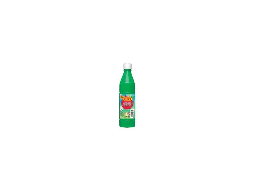 Tekuté temperové barvy JOVI v lahvi - 500 ml / sv.zelená