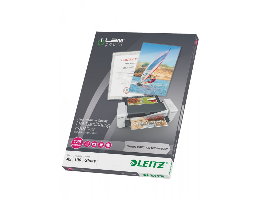 Laminovací pouzdra Leitz iLam - A3 125 mic / 100 ks
