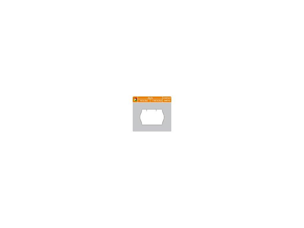 Etikety do etiketovacích kleští - 25 x 16 mm Contact / bílá