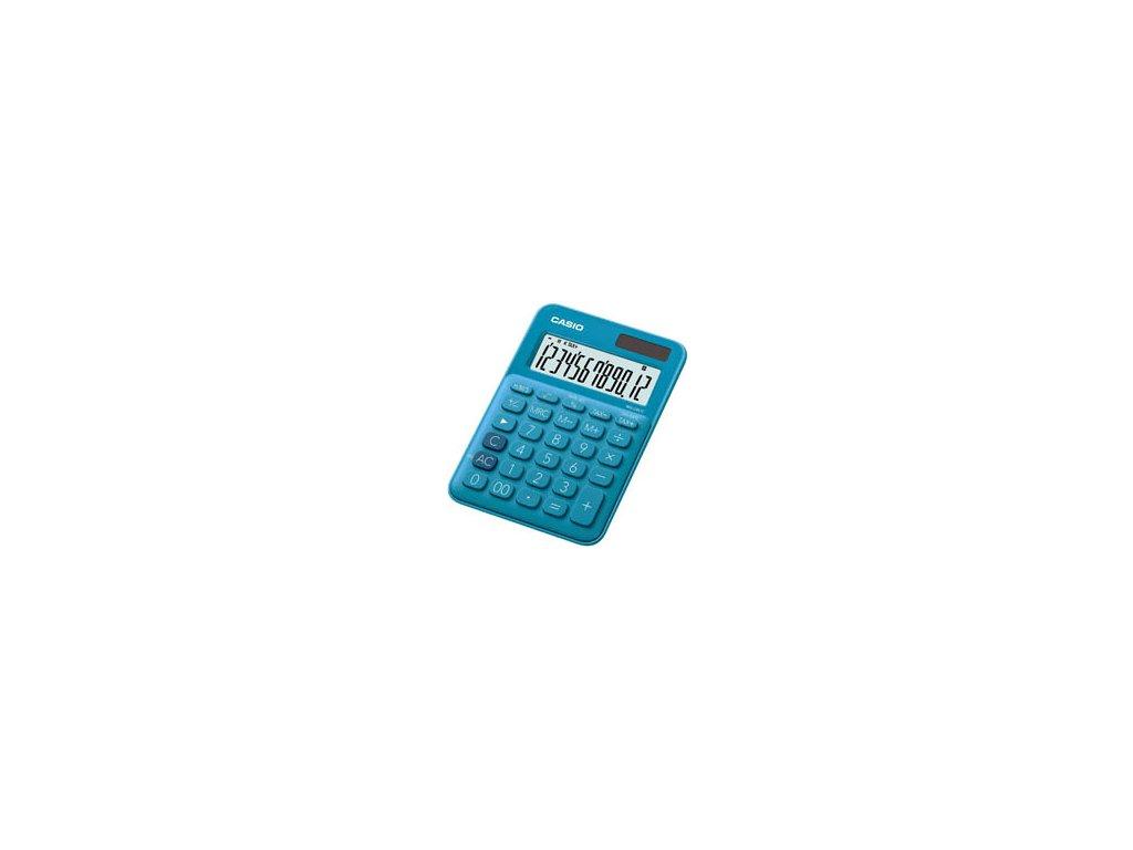 Kalkulačka Casio MS 20 UC - displej 12 míst / modrá