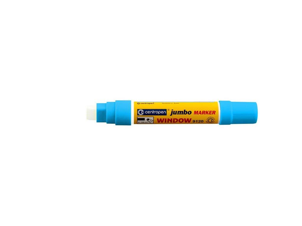 Značkovač Centropen 9120 Jumbo window - modrá