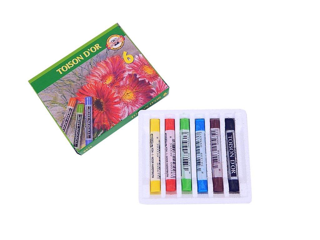 Křídy prašné Toison D´or - 6 barev