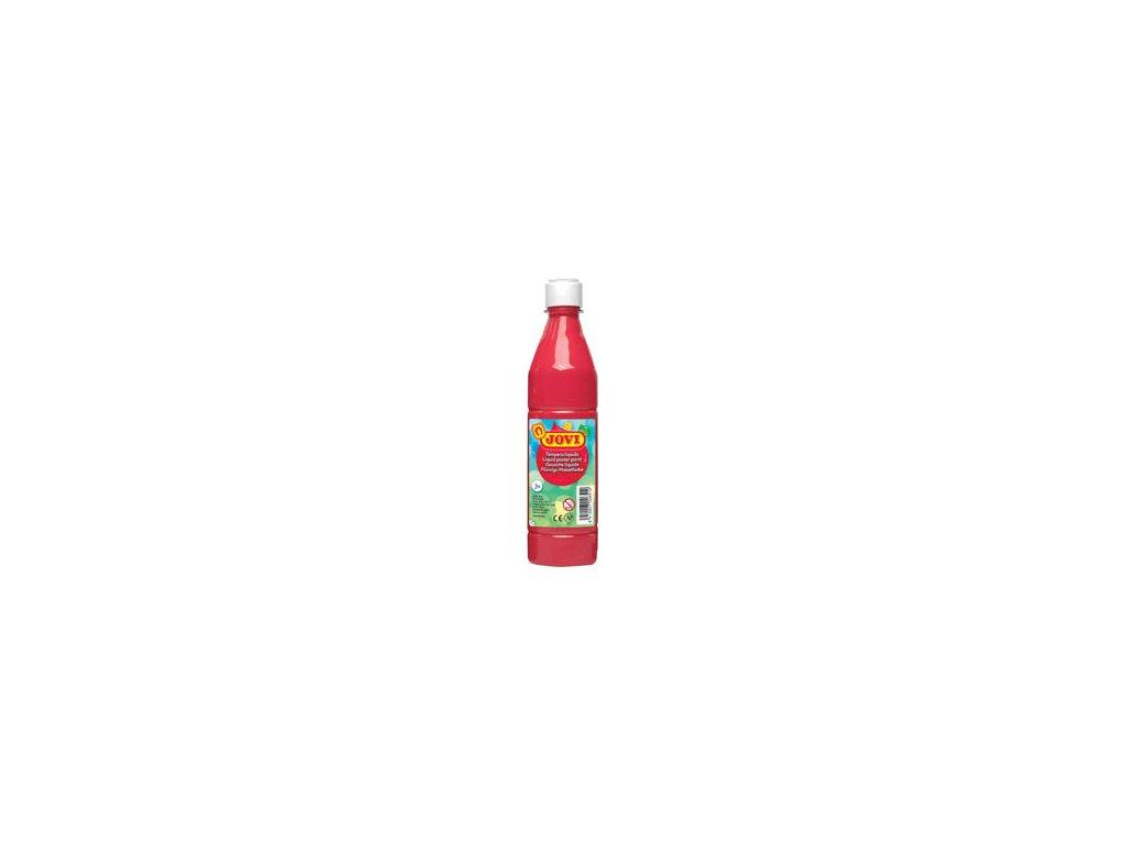 Tekuté temperové barvy JOVI v lahvi - 500 ml / červená