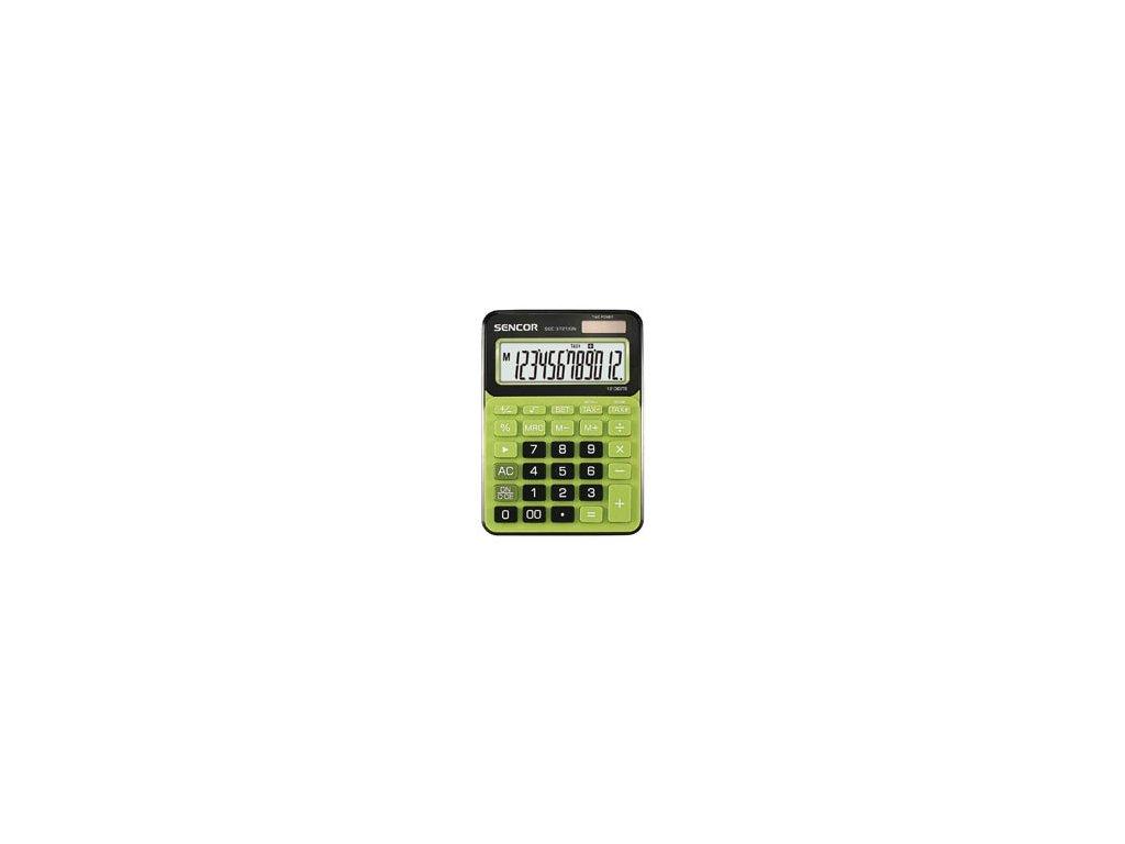 Kalkulačka Sencor SEC 372T - displej 12 míst / zelená