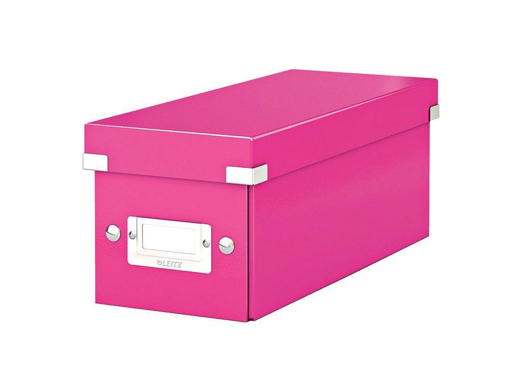 Krabice Leitz Click & Store - na CD / růžová
